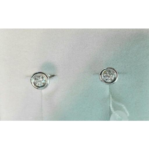 Pendientes Diamantes Oro Blanco 18 Quilates Extraplanos ¡Te Encantarán! [0]